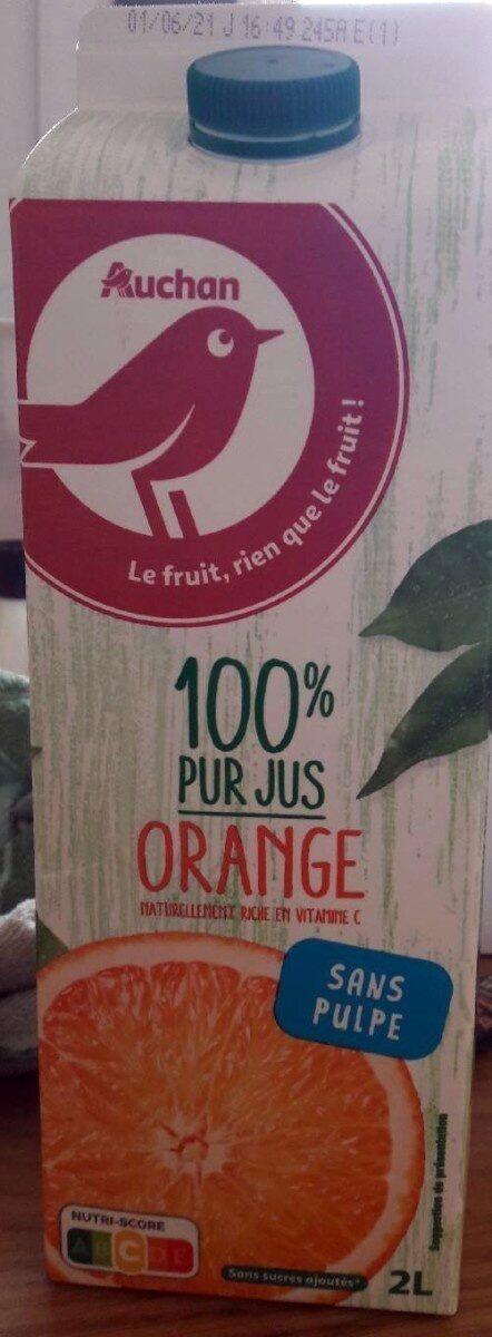 100% pur jus Orange sans pulpe - Prodotto - fr