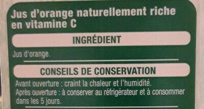 100% pur jus Orange sans pulpe - Ingredienti - fr