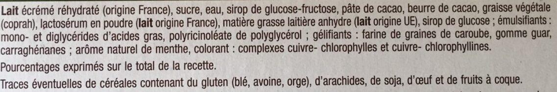DOUBLE Glace menthe - Ingrédients - fr