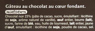 Fondant au chocolat x2 - Ingrédients