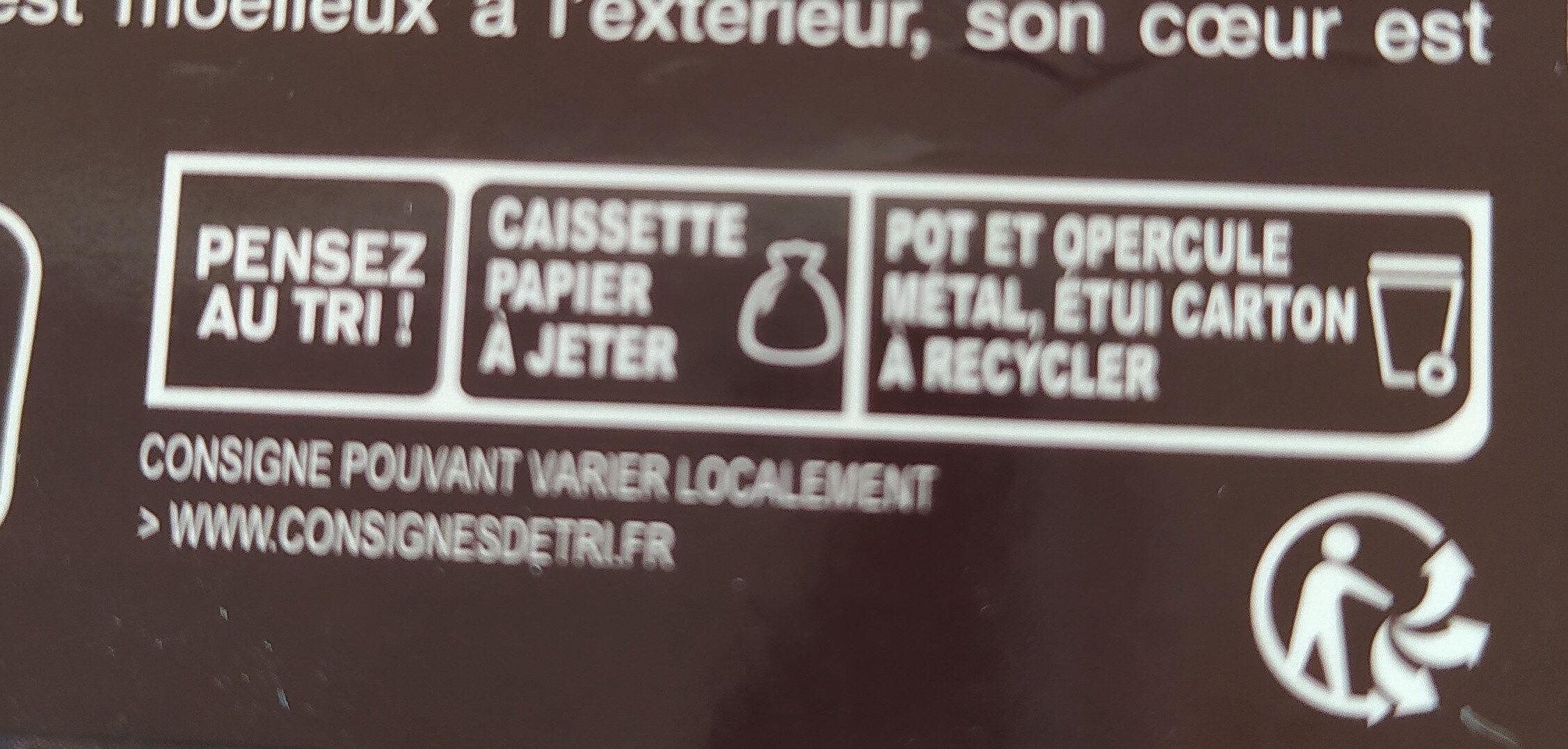 Fondant au chocolat x2 - Instruction de recyclage et/ou information d'emballage - fr