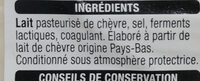 Tranchettes CHÈVRE Goût subtil - Ingredienti - fr