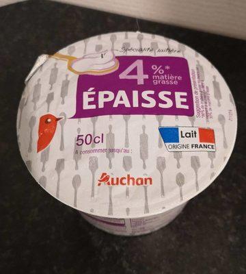 Crème épaisse 4 Auchan 50 Cl