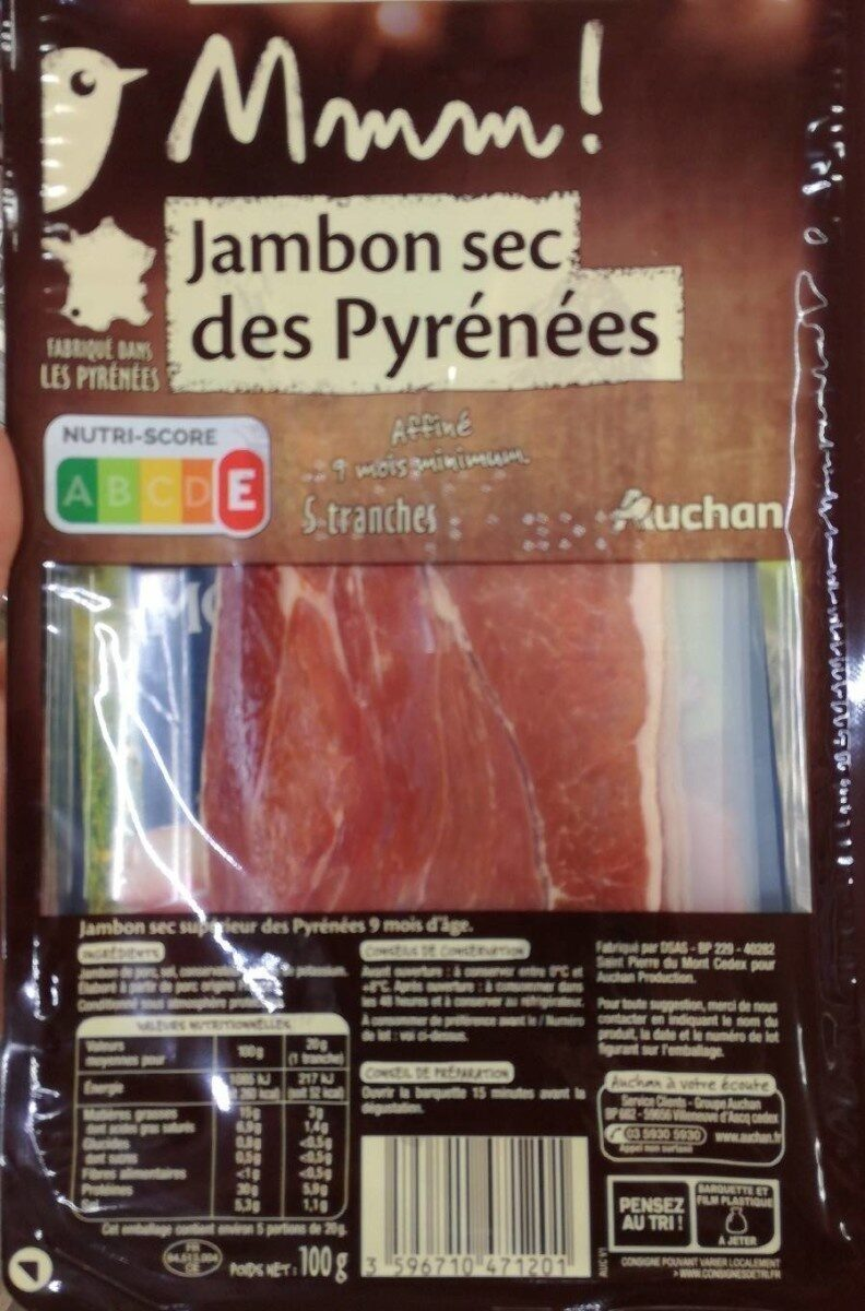 Mmm! Jambon sec des Pyrénées - Prodotto - fr