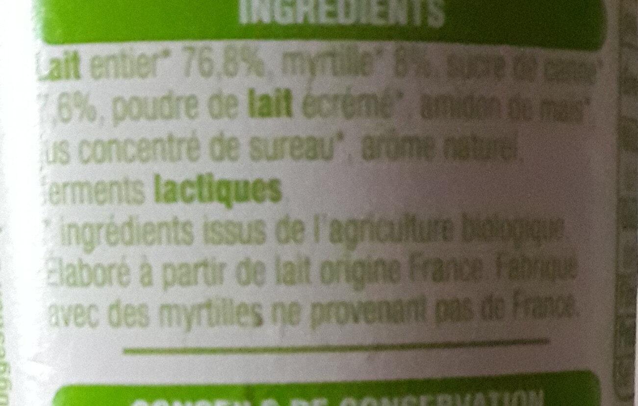 Les morceaux myrtille - Ingredients