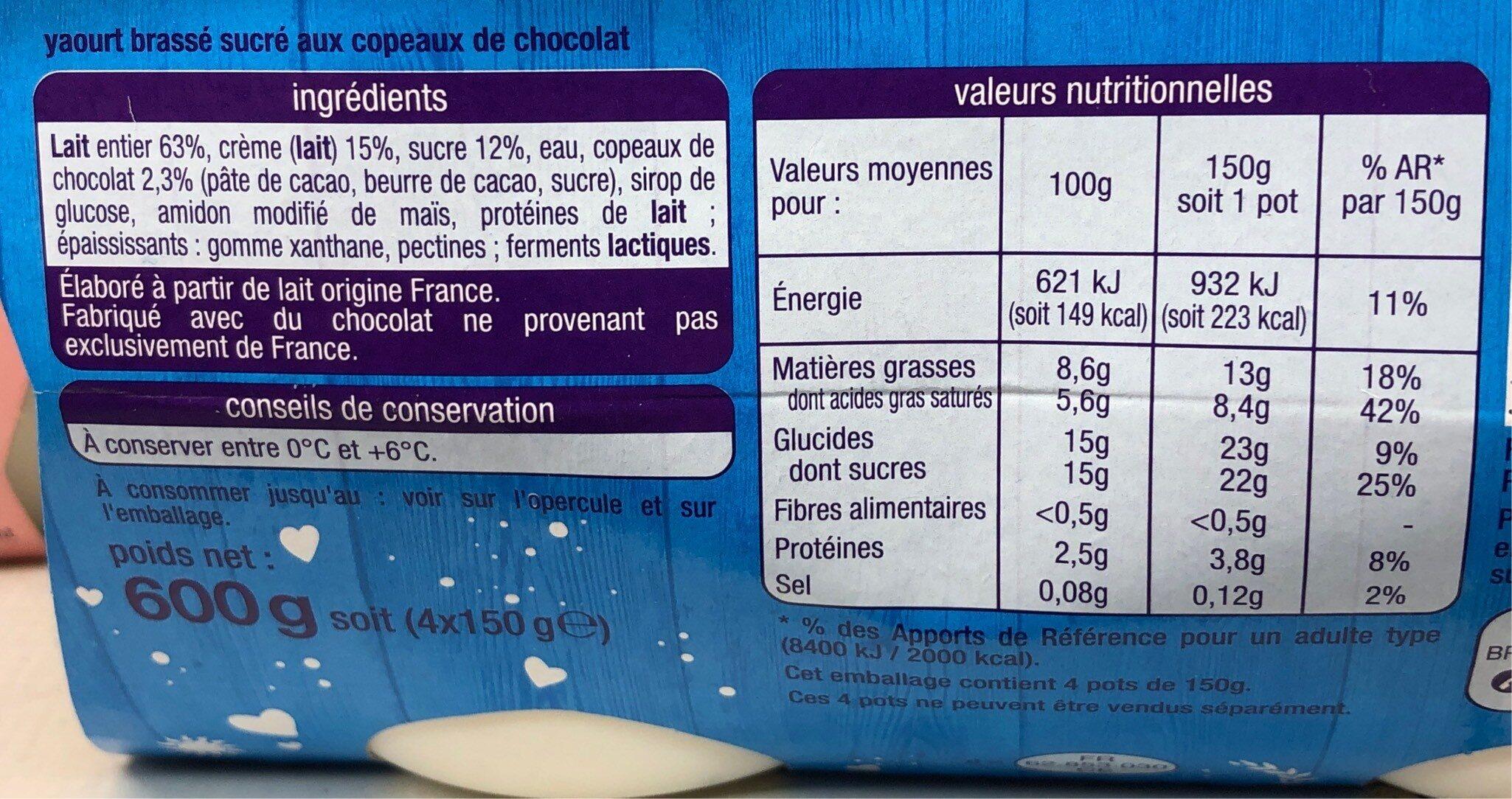 Yaourt a la Grecque Stracciatella - Informations nutritionnelles