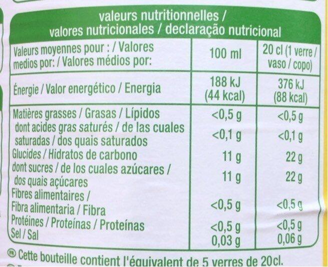 Pur jus de pomme trouble - Informations nutritionnelles - fr
