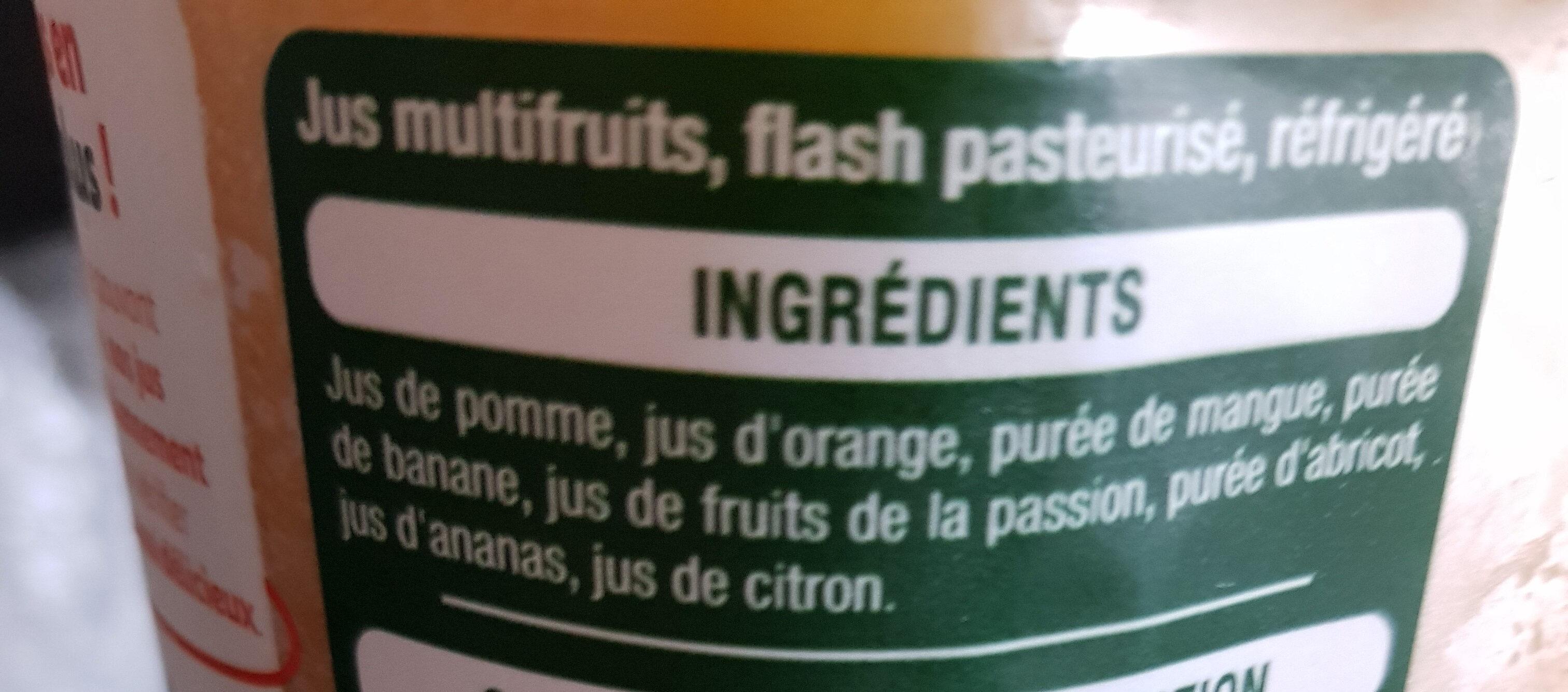 Multifruit 100% pur jus - Ingredients