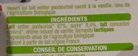 Yaourt Vanille - Ingredients