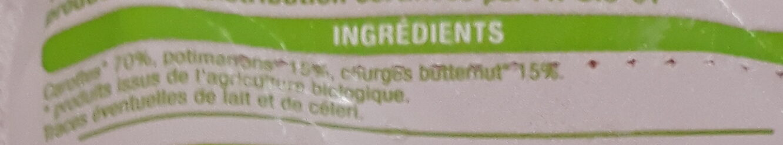 Purée 100% légumes - Ingrediënten - fr