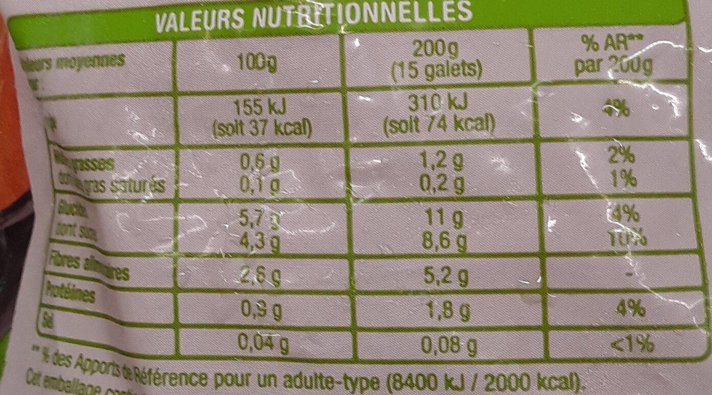 Purée 100% légumes - Voedingswaarden - fr