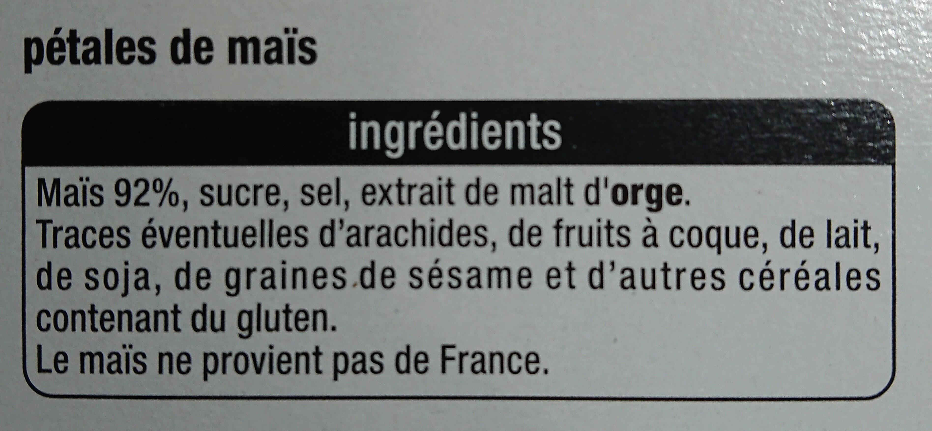 Pétales de mais Corn flakes - Ingrédients - fr