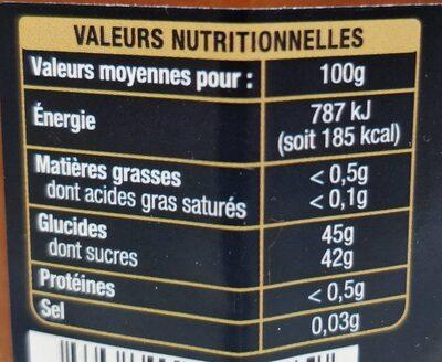 Confiture Abricot de Provence - Nutrition facts - fr