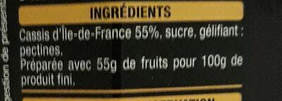 Cassis d'île de France - Ingrédients - fr