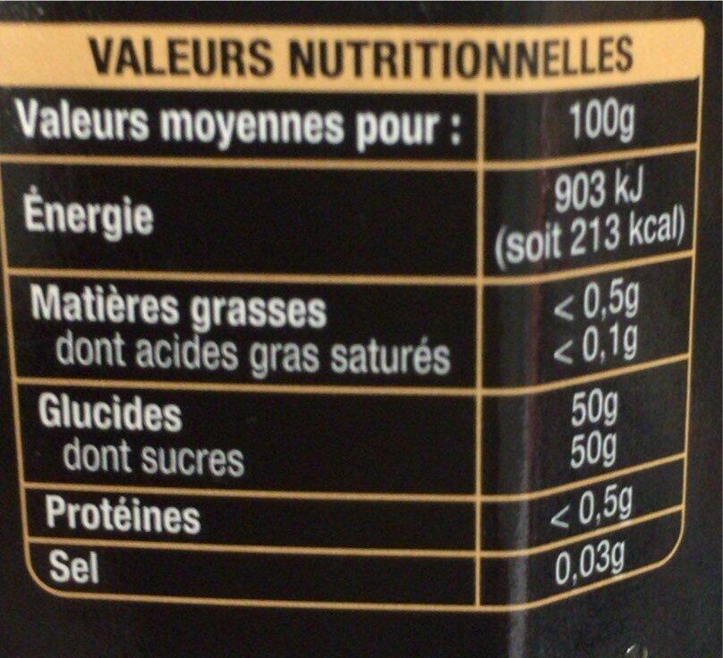 Cassis d'île de France - Informations nutritionnelles - fr