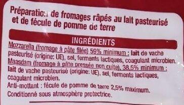 Râpé spécial gratin - Ingrediënten - fr