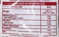 Râpé spécial gratin - Voedingswaarden - fr