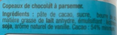 Copeaux de chocolat - Ingrediënten - fr