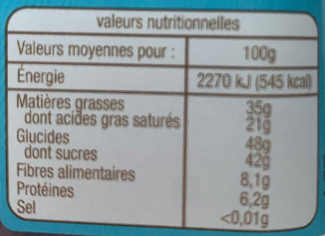 Copeaux de chocolat - Voedingswaarden - fr