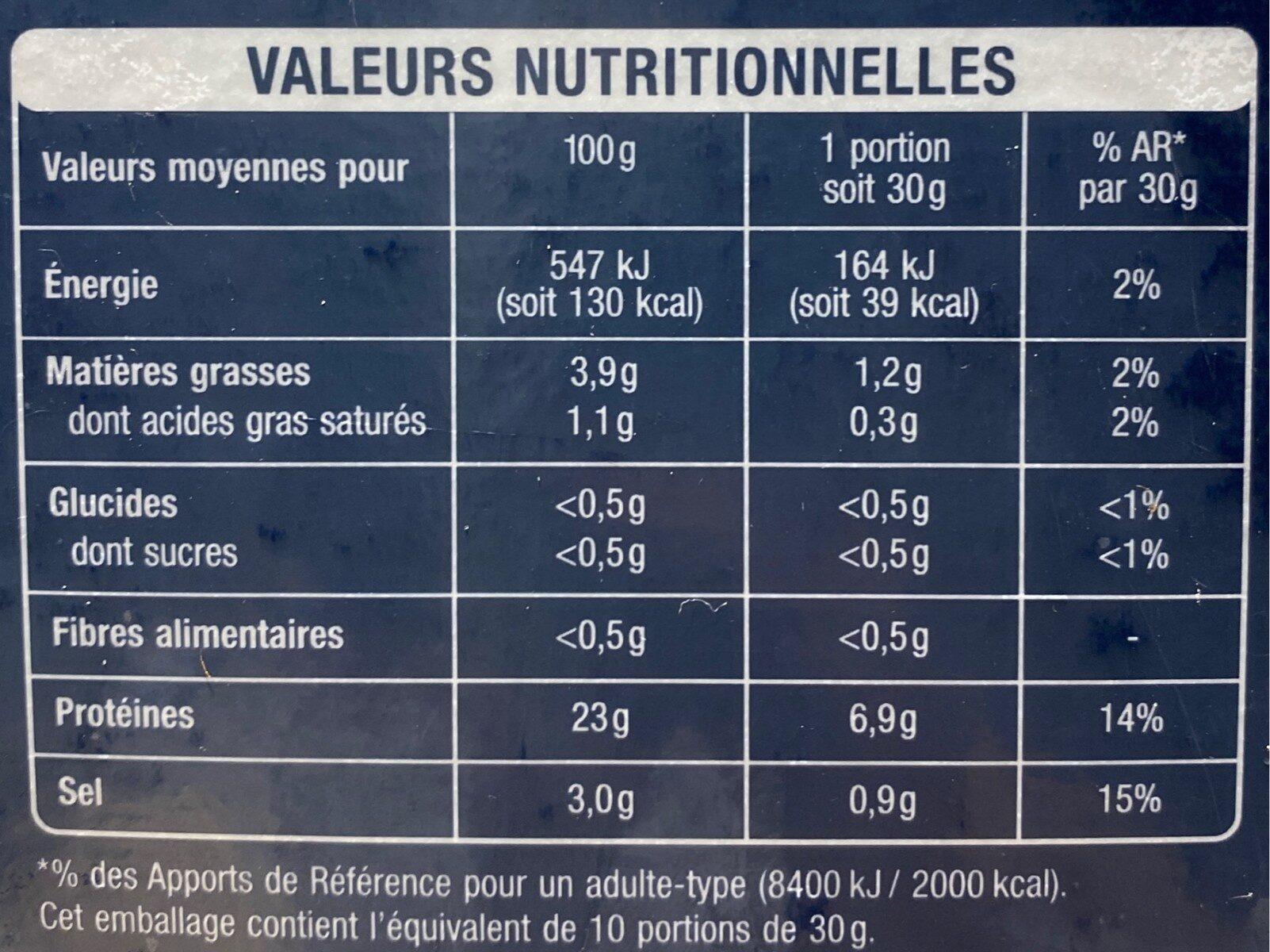 Saumon rouge du pacifique - Valori nutrizionali - fr