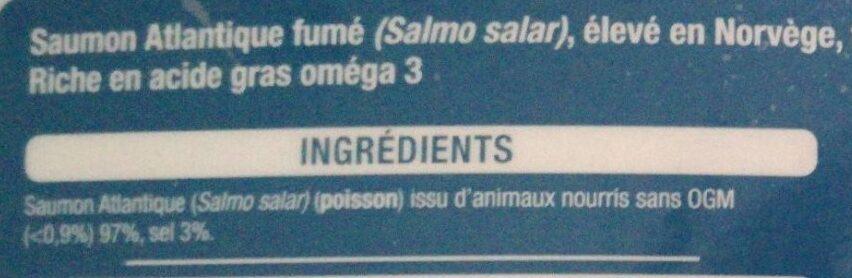 Saumon fumé de Norvège - Ingrediënten - fr