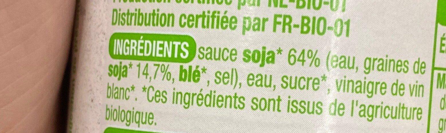 Sauce soja BIO - Voedingswaarden - fr