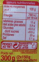 Alumettes - Nutrition facts