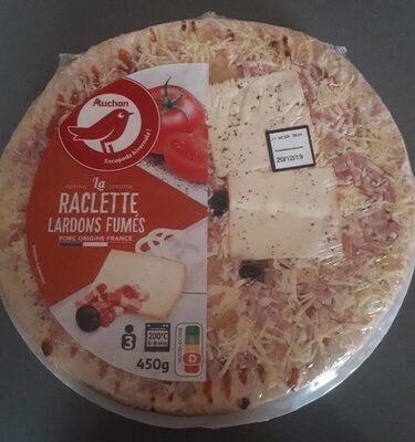 Pizza Raclette Lardons fumés 450g Auchan - Product