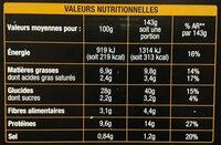 Pizza Primavera - légumes grillés et mozzarella - Nutrition facts - fr