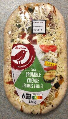 Pizza Crumble Chèvre Légumes Grillés 180g Auchan - Product