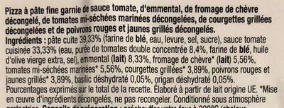 Pizza Crumble Chèvre Légumes Grillés 180g Auchan - Ingredients