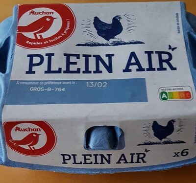 Oeufs Plein Air Gros par 6 - Produit - fr