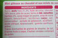 Auchan Mini brownies chocolat noisettes - Ingredients - fr