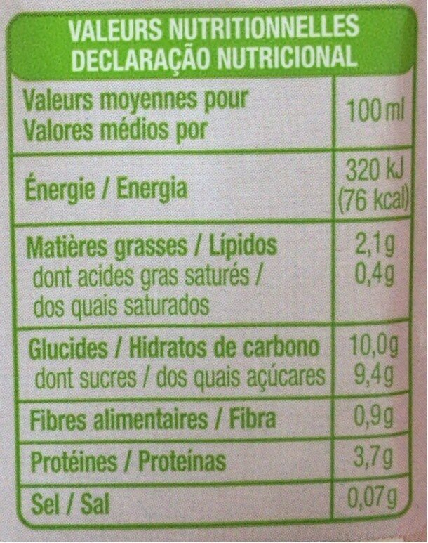 Soja chocolat - Informations nutritionnelles - fr