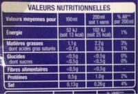 Boisson amande sans sucres ajoutés - Informations nutritionnelles - fr