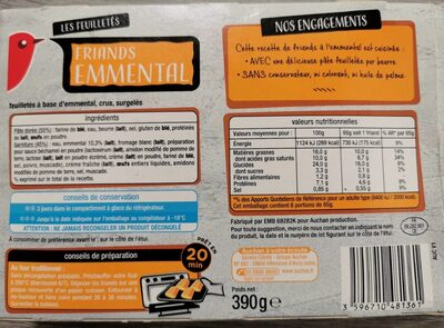 Friand emmental - Nutrition facts - fr