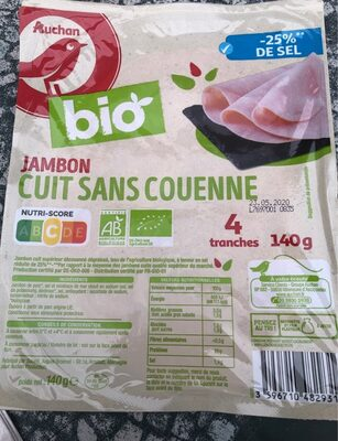 Jambon cuit sans couenne - Produit - fr