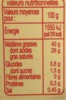 Beurre Léger - Informations nutritionnelles - fr