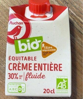 Bio Equitable Crème entière 30% Fluide - Produit - fr
