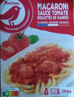 Macaroni sauce tomates boulettes de viande - Produit - fr