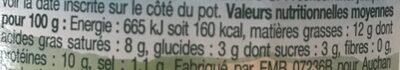 Fromage frais de chèvre - Nutrition facts