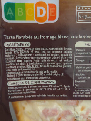 Tarte flambée alsacienne - Ingredients - fr