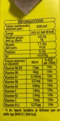 Nectar multivitamine 12 fruits - Voedingswaarden - fr