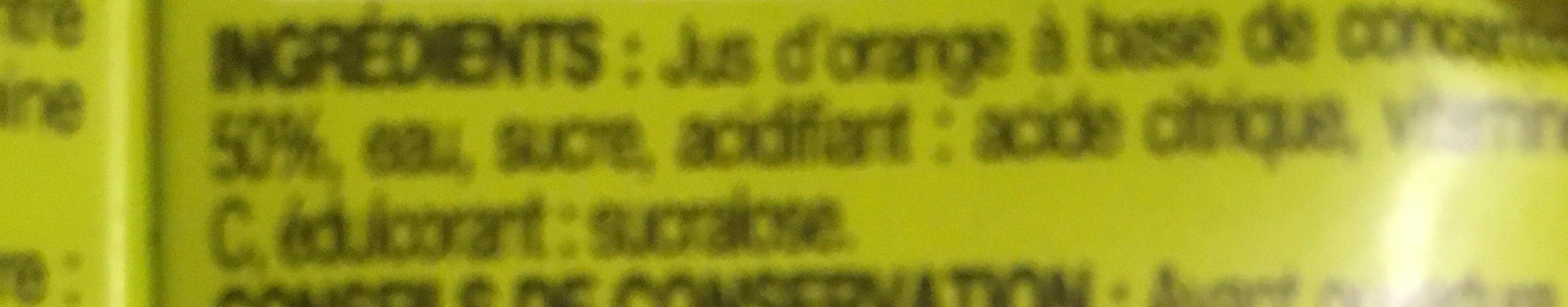 Pouce Nectar D'orange Briquettes - Ingrédients