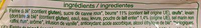 Pains au Lait Pur Beurre - Ingredients