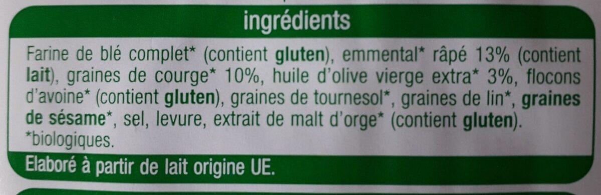 Crackers emmental et graines de courge - Ingrediënten