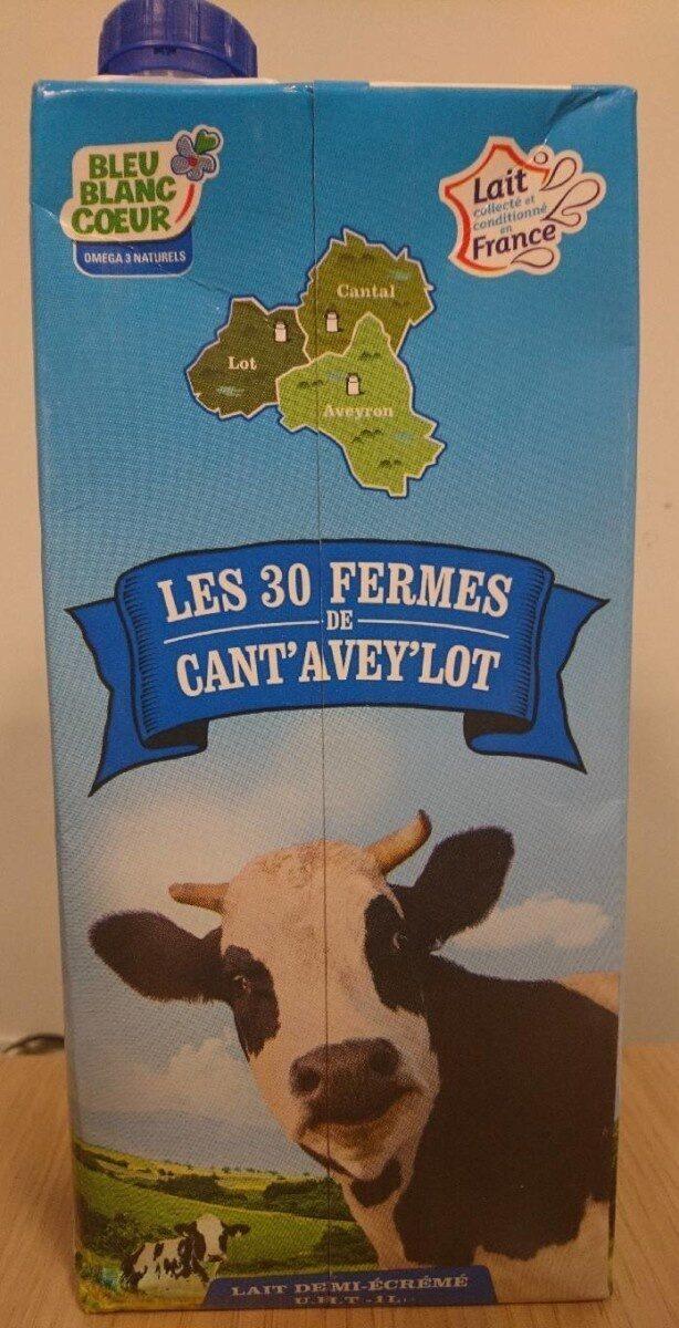 Lait demi-écrémé Cant'Avey'Lot UHT - Prodotto - fr