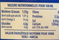 Lait demi-écrémé Bleu-Blanc-Coeur UHT - Informations nutritionnelles - fr