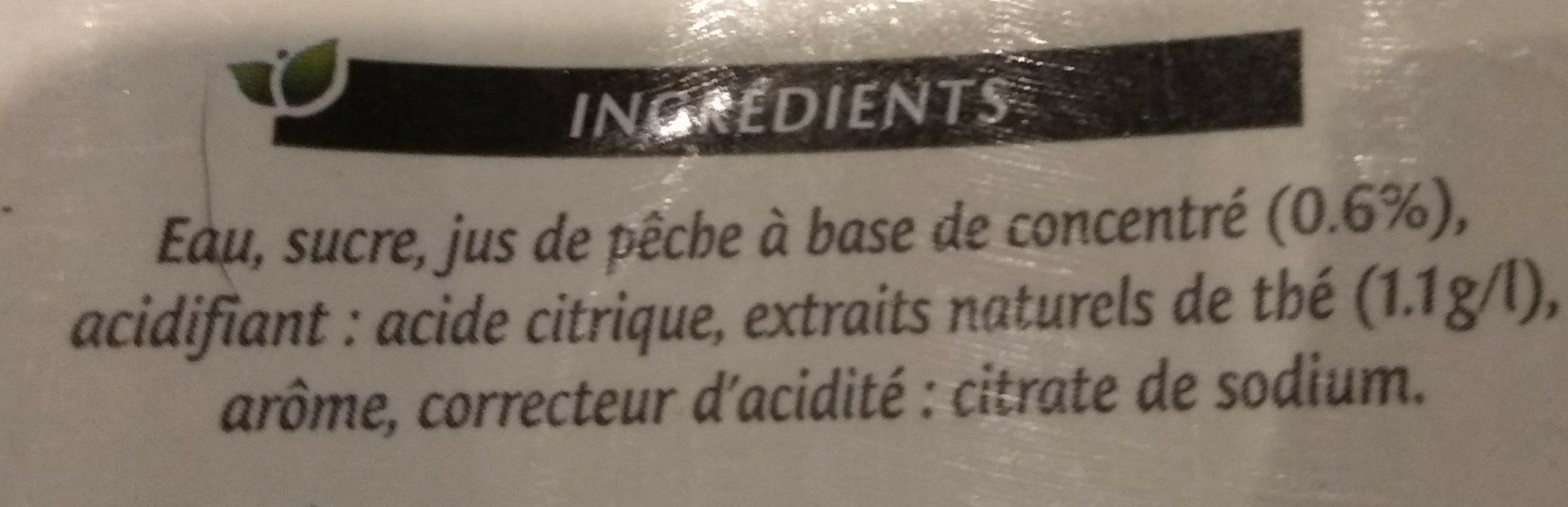 Peach tea - Ingrédients - fr