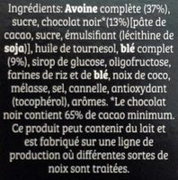 Cruesli Chocolat - Ingrediënten